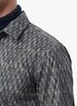 NetWork Desenli Uzun Kollu Slim Fit Gömlek Haki